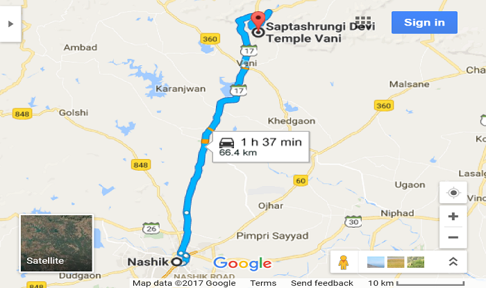 nashik-to-saptashrungi-gad-spotvis-map